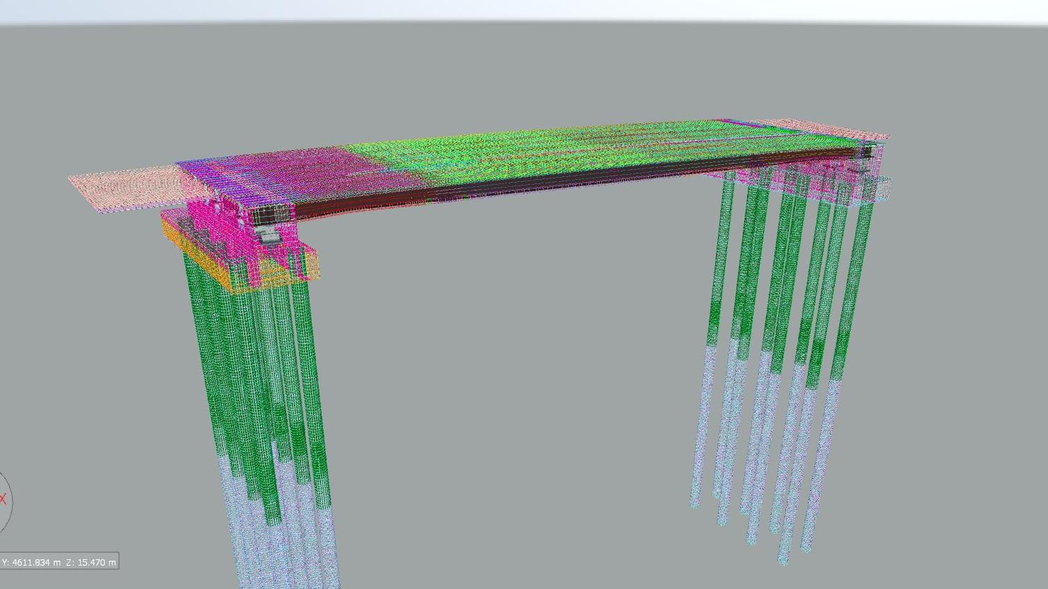 配筋モデル:巨大な部品全体をあらゆる角度から確認